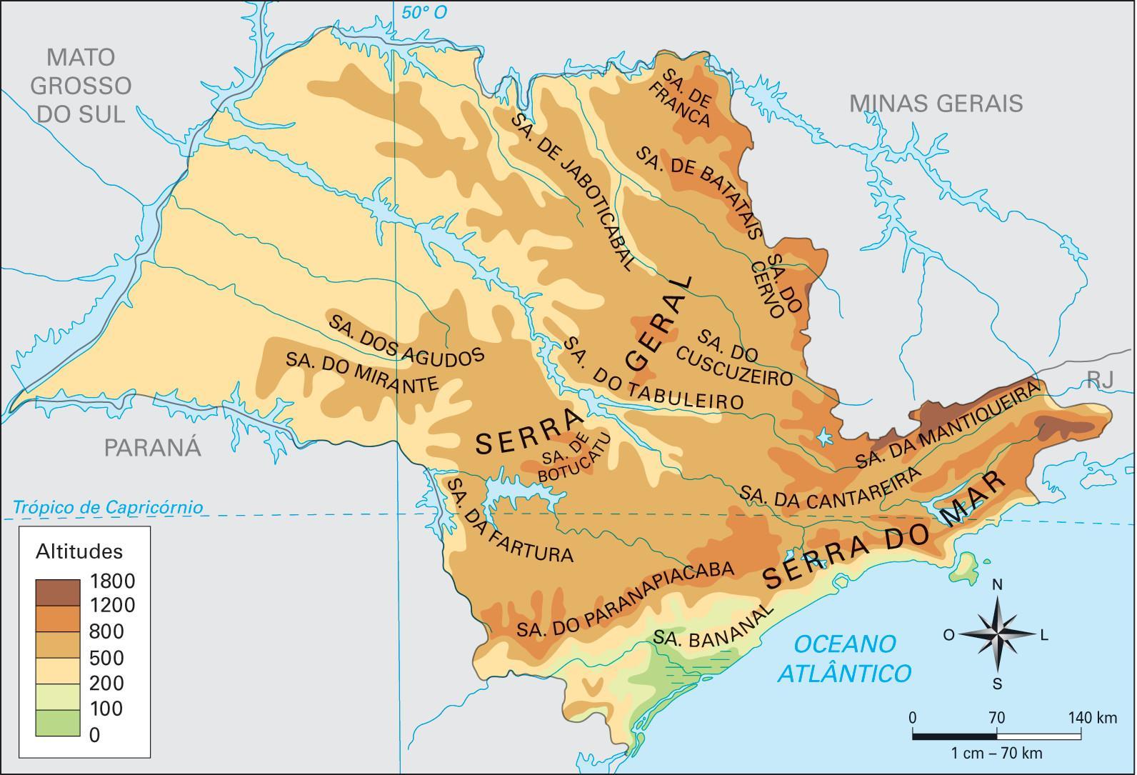 Altitude São Paulo Map Map Of Altitude São Paulo Brazil - Map of sao paulo