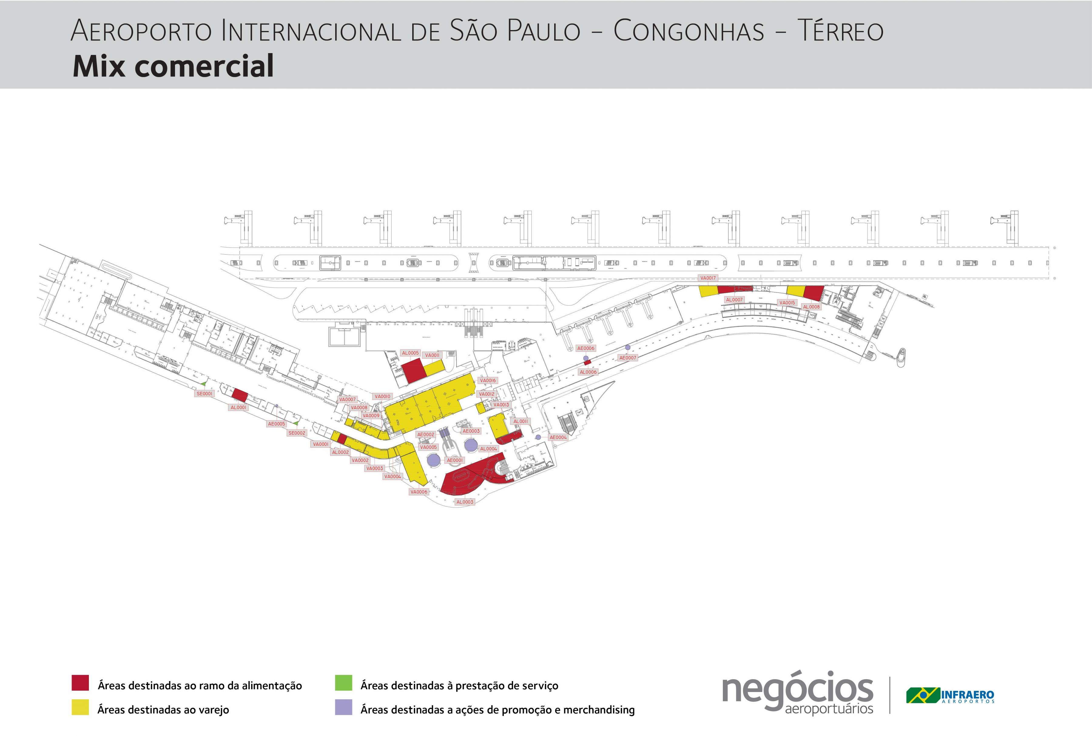 Congonhas airport Terminal map Map of Congonhas airport