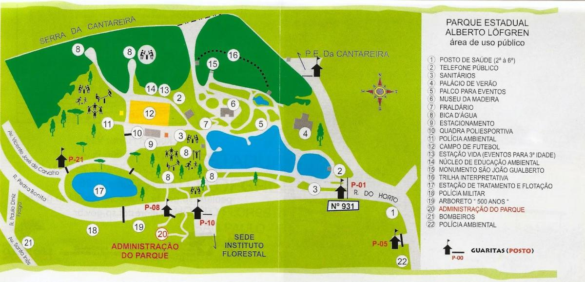 Map of Alberto Löfgren park