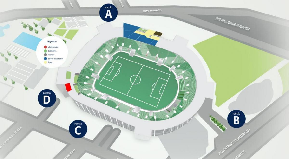 Map of Allianz Parque - Level 1