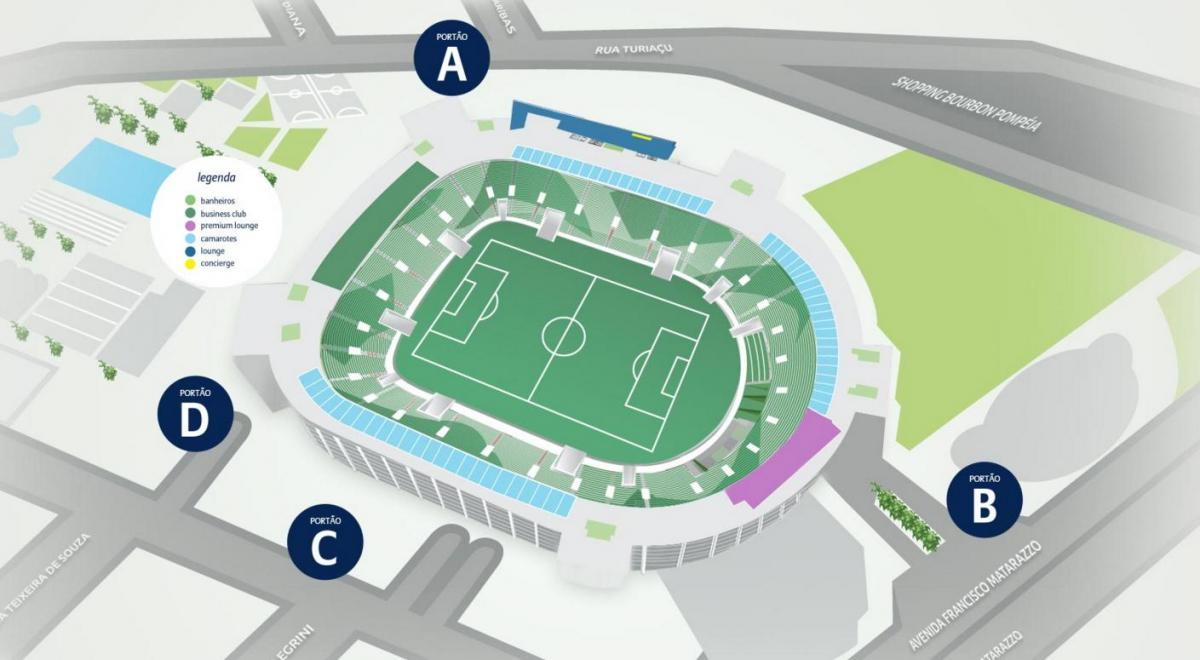 Map of Allianz Parque - Level 3