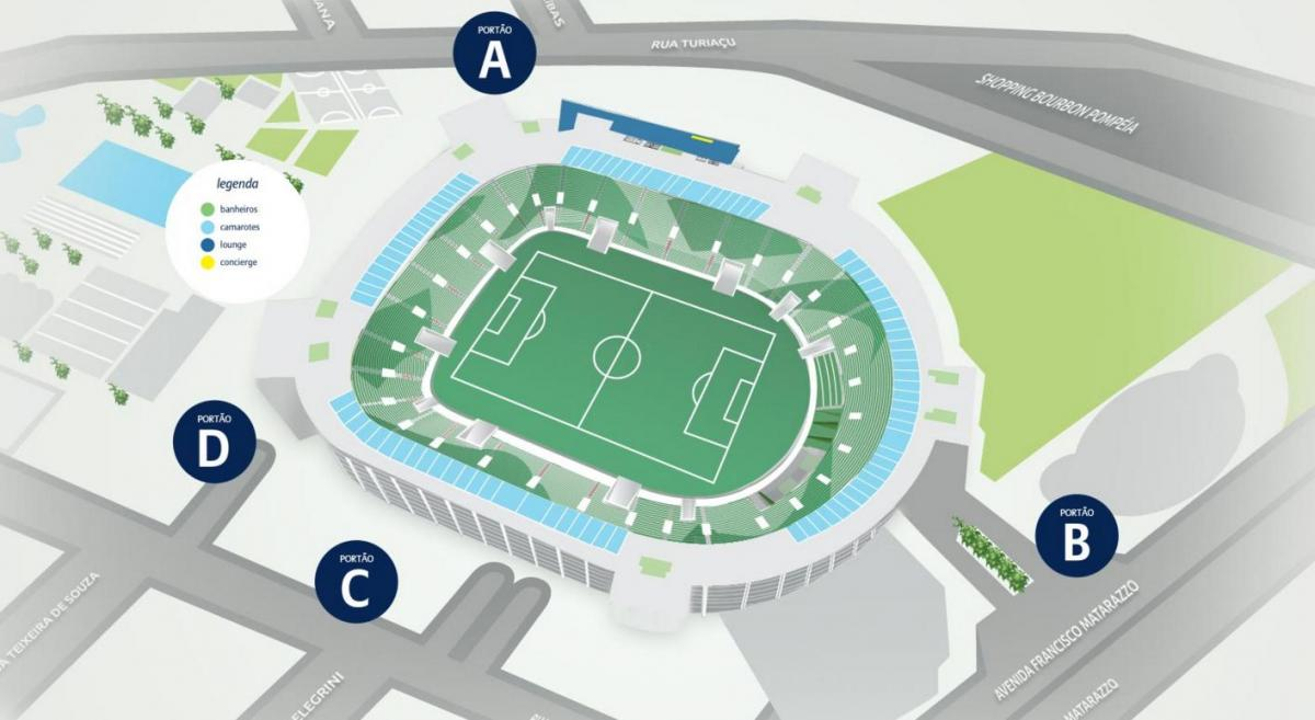 Map of Allianz Parque - Level 4