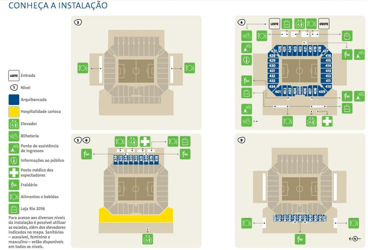 Map of Arena Corinthians