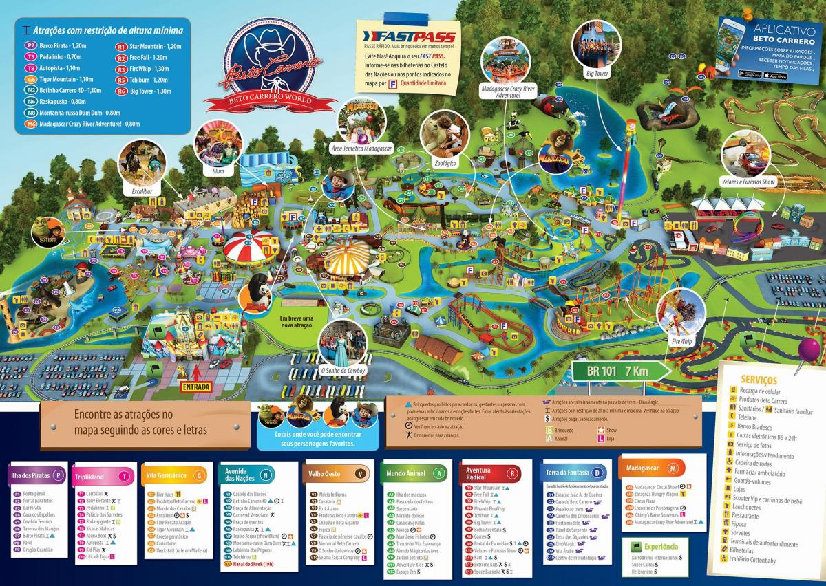 Map of Beto Carrero World