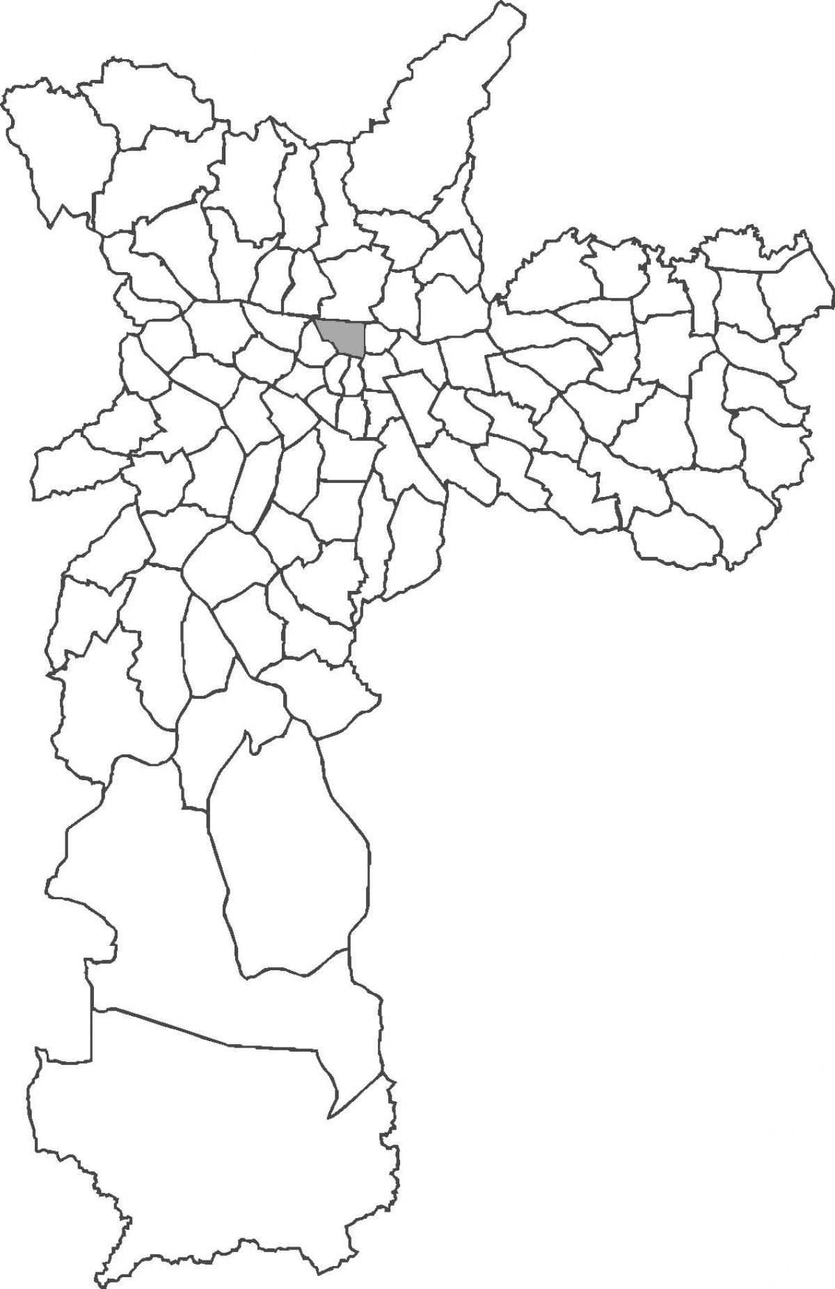 Map of Bom Retiro district