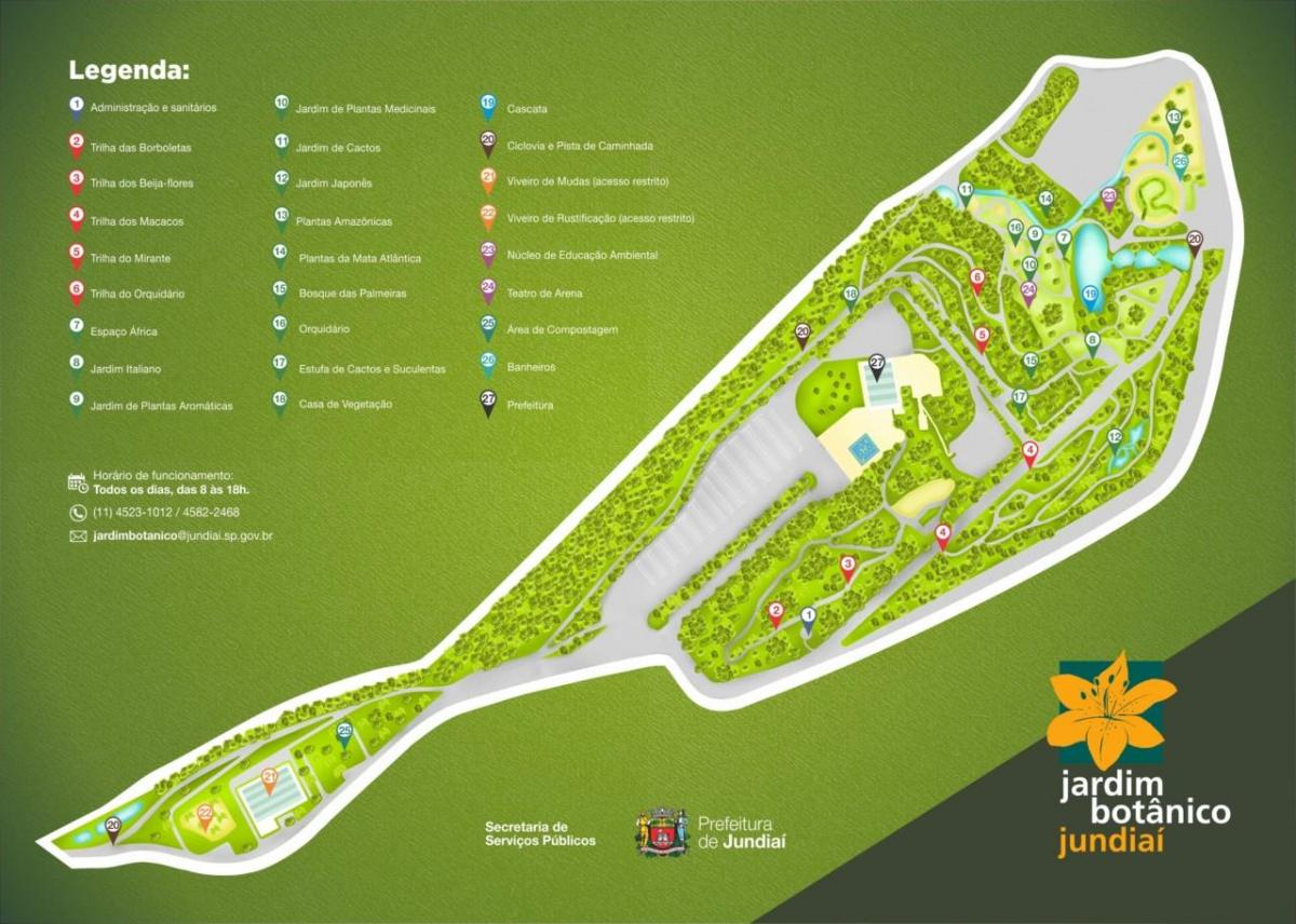 Map of botanical garden Jundiaí