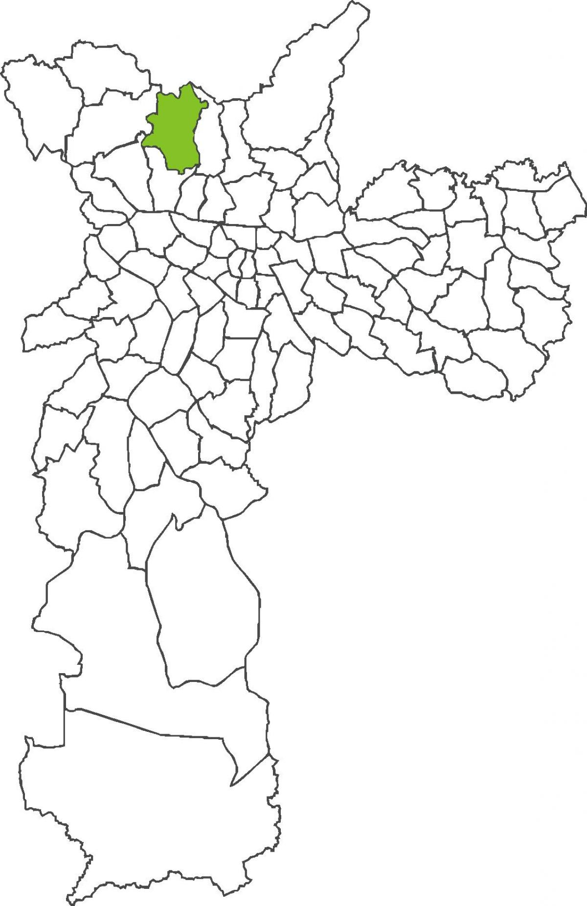 Map of Brasilândia district