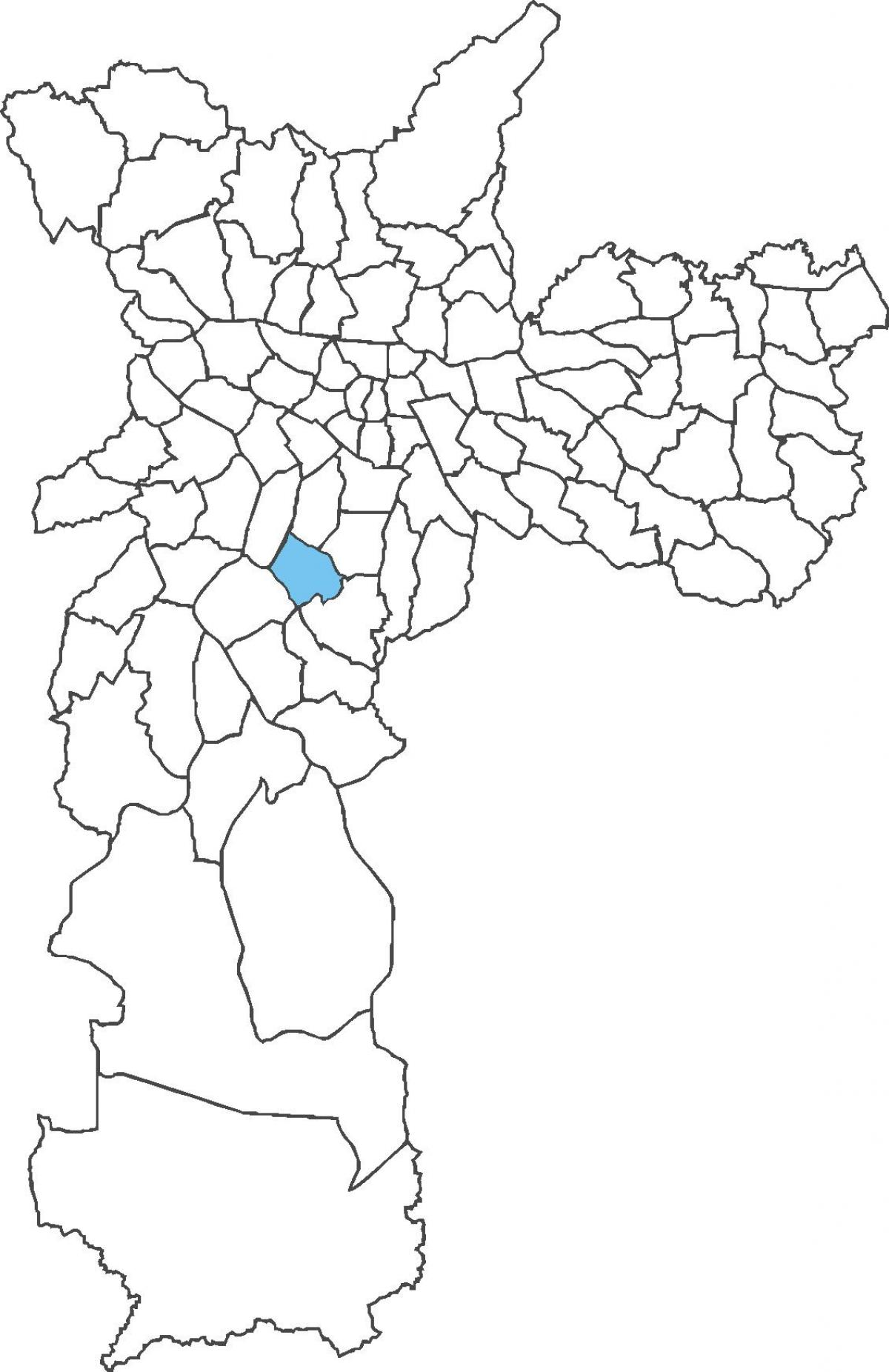 Map of Campo Belo district