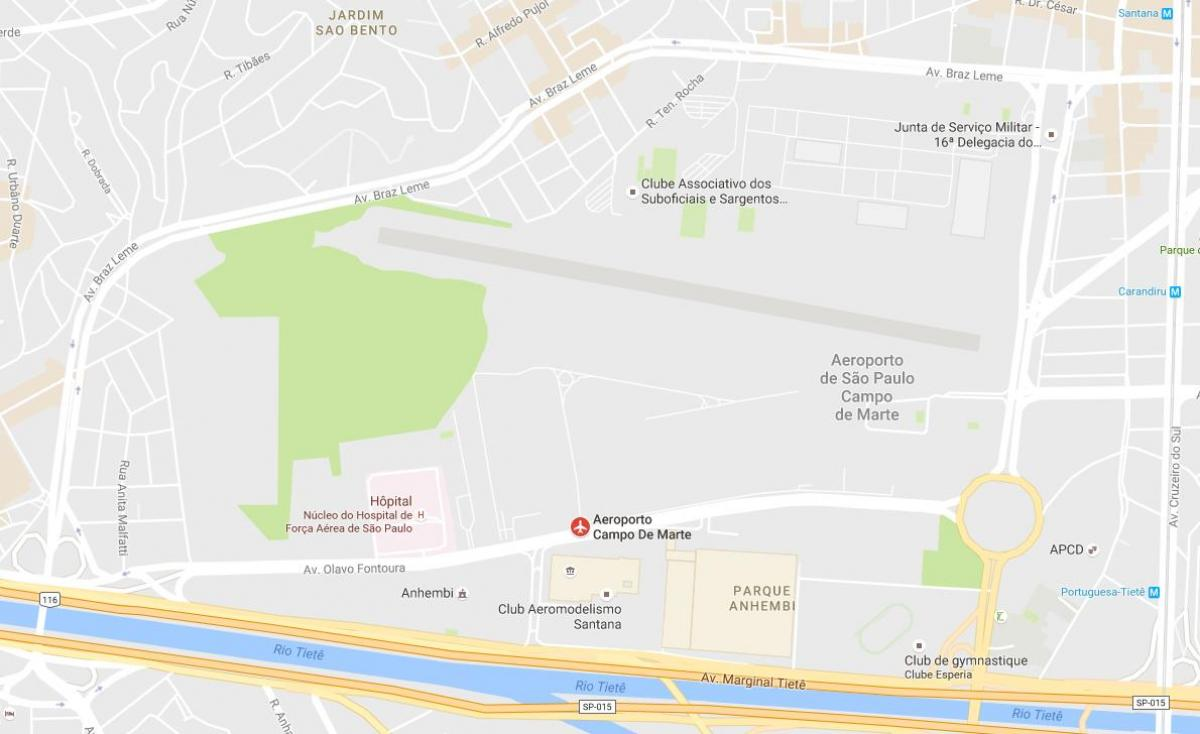 Map of Campo de Marte airport