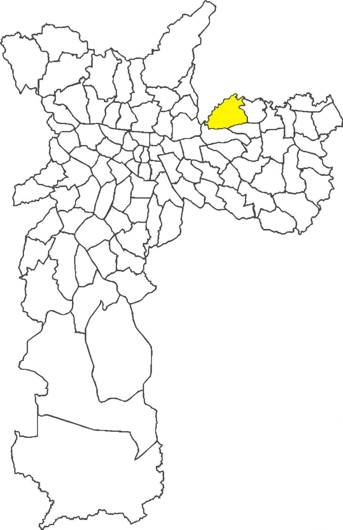 Map of Cangaíba district