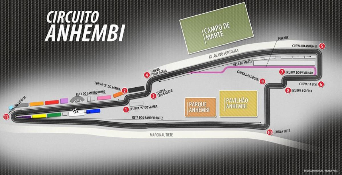 Map of Circuit of Anhembi