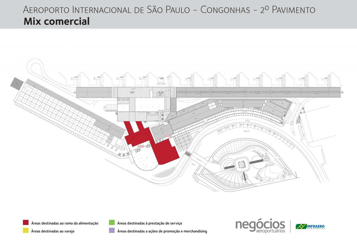 Map of Congonhas airport - Floor 2
