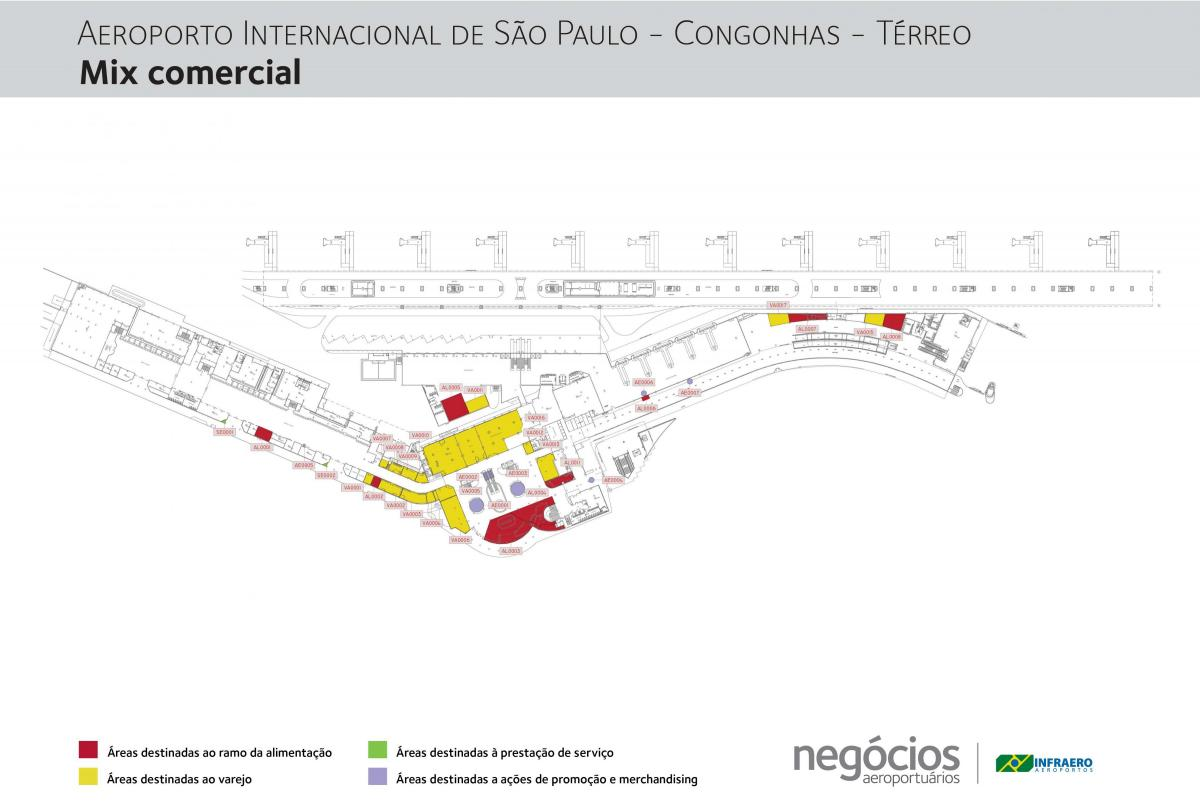 Map of Congonhas airport - Terminal