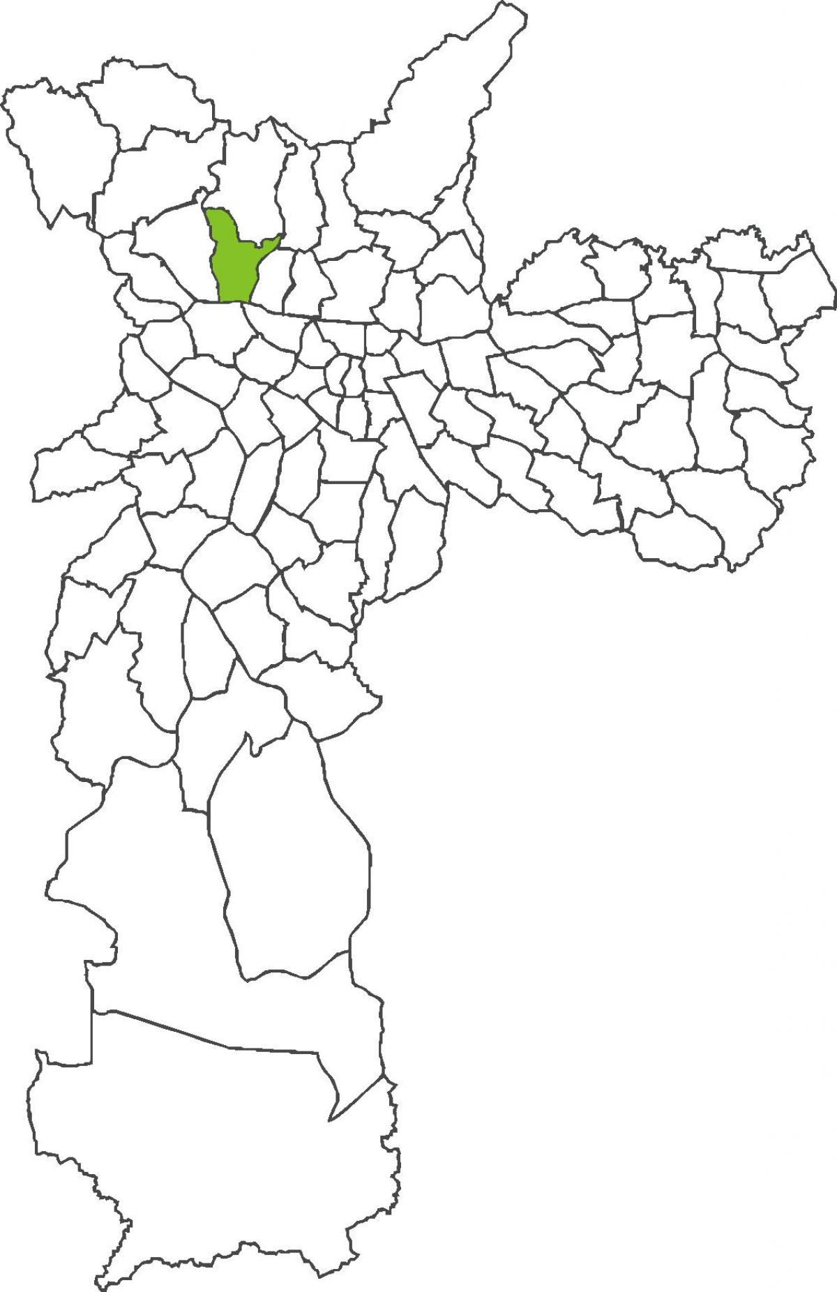 Map of Freguesia do Ó district
