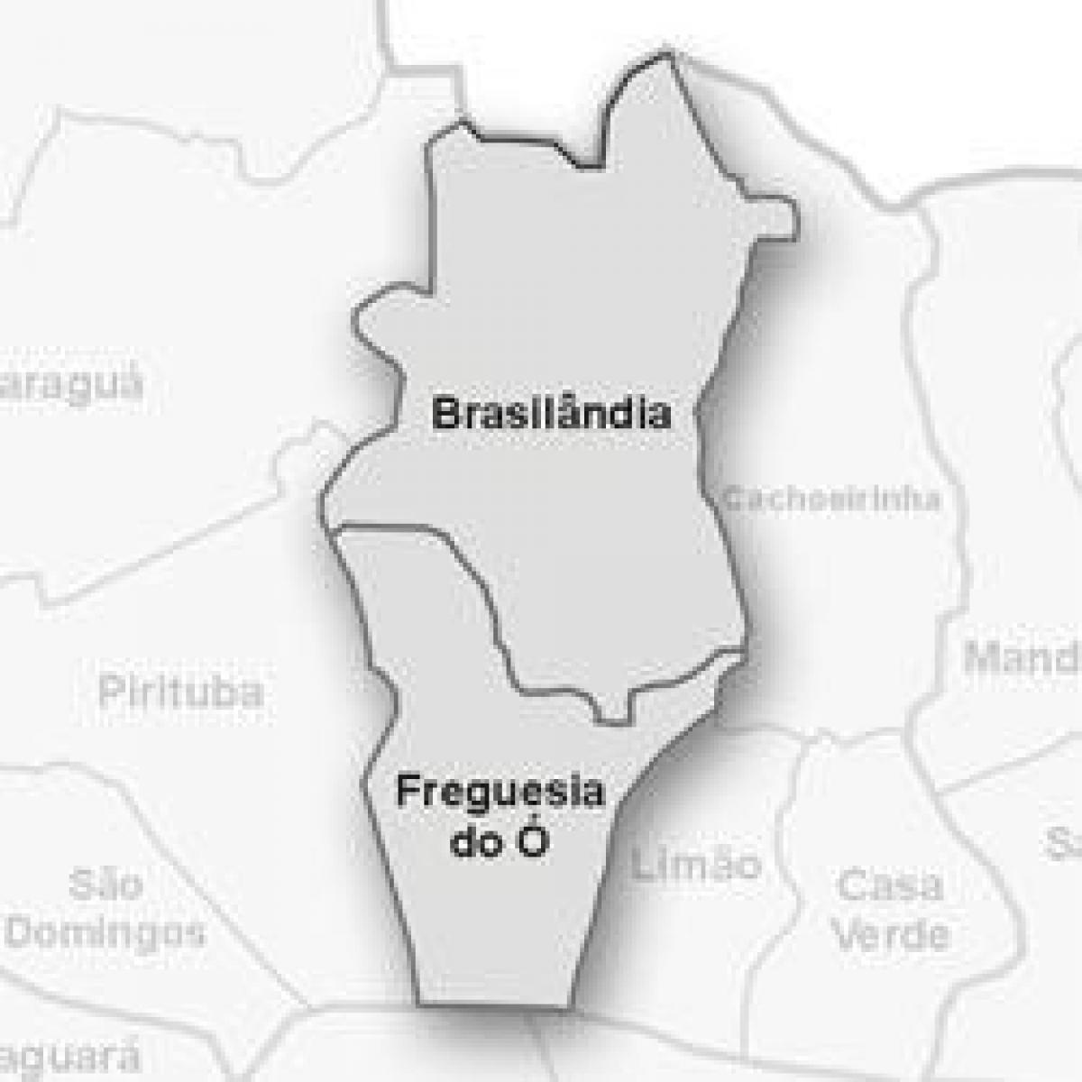 Map of Freguesia do Ó sub-prefecture