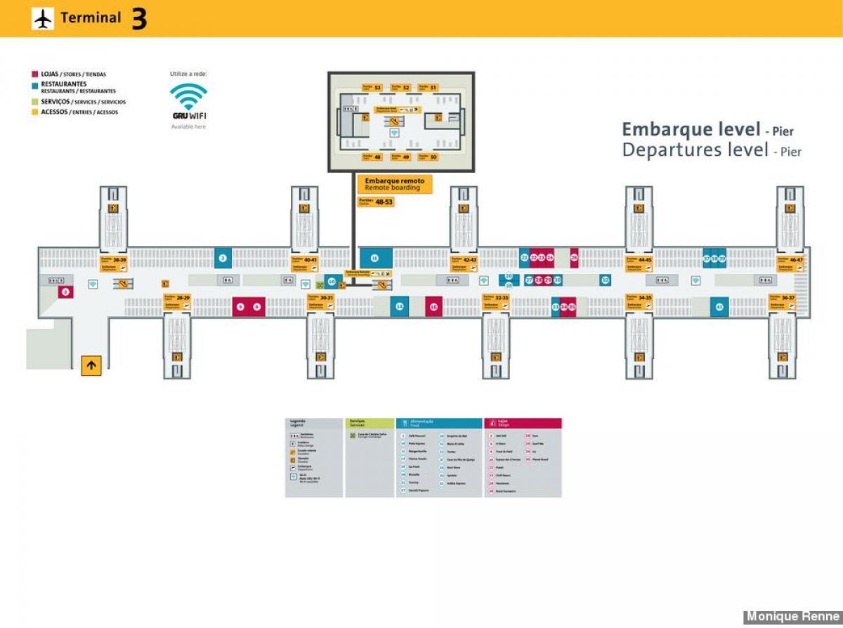 International Airport S 227 O Paulo Guarulhos Terminal 3 Map