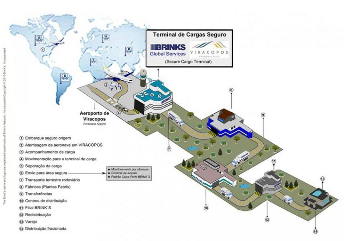 Map of international airport Viracopos - Terminal high security