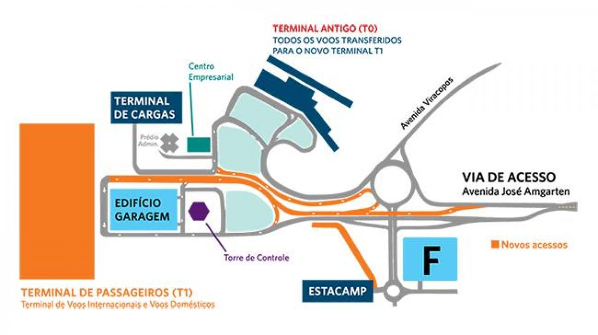 Map of international airport Viracopos parking
