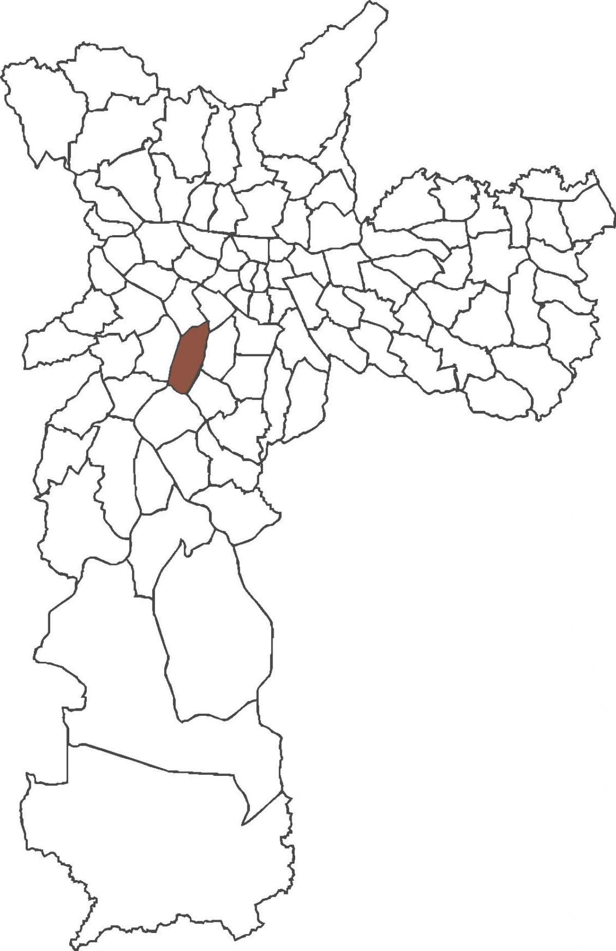 Map of Itaim Bibi district