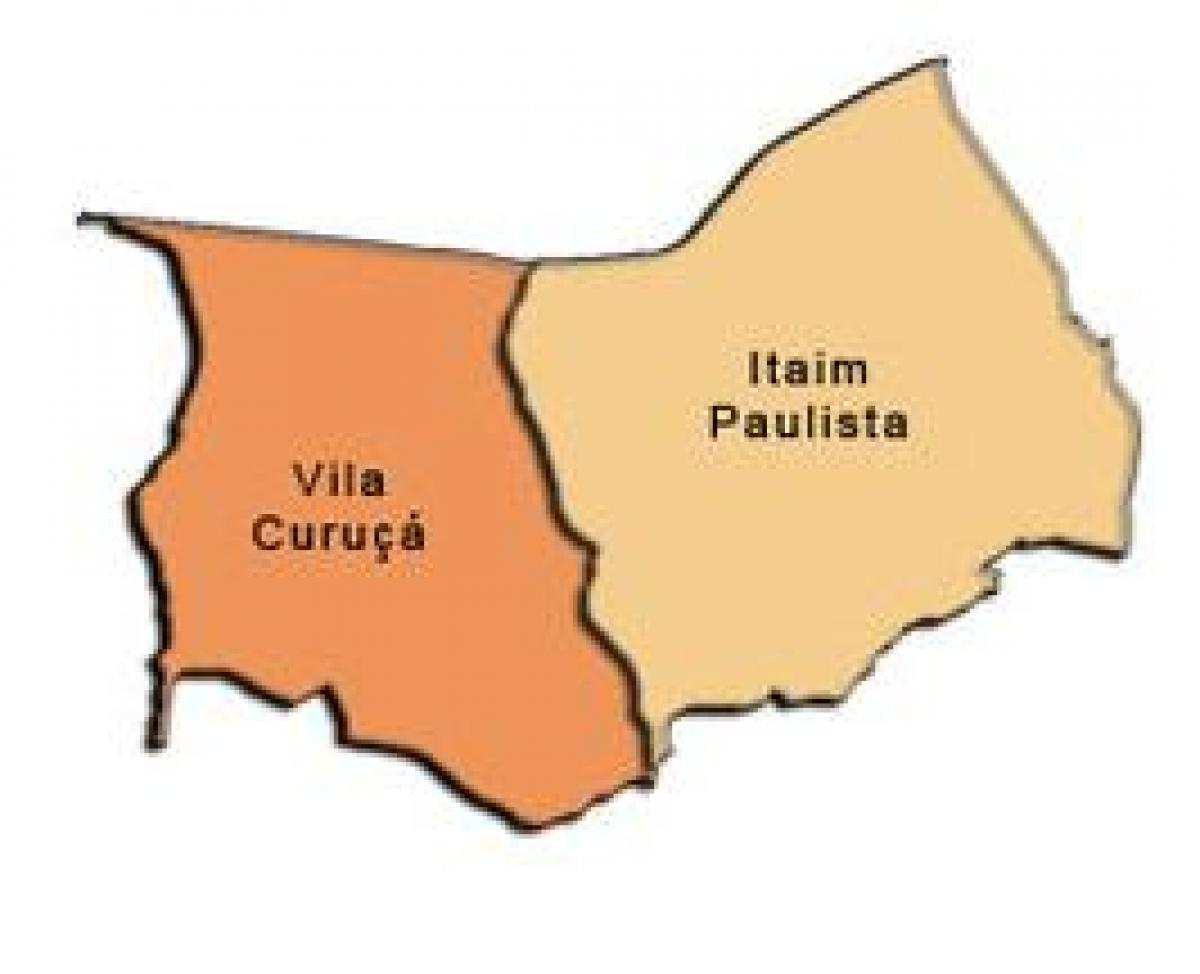 Map of Itaim Paulista - Vila Curuçá sub-prefecture
