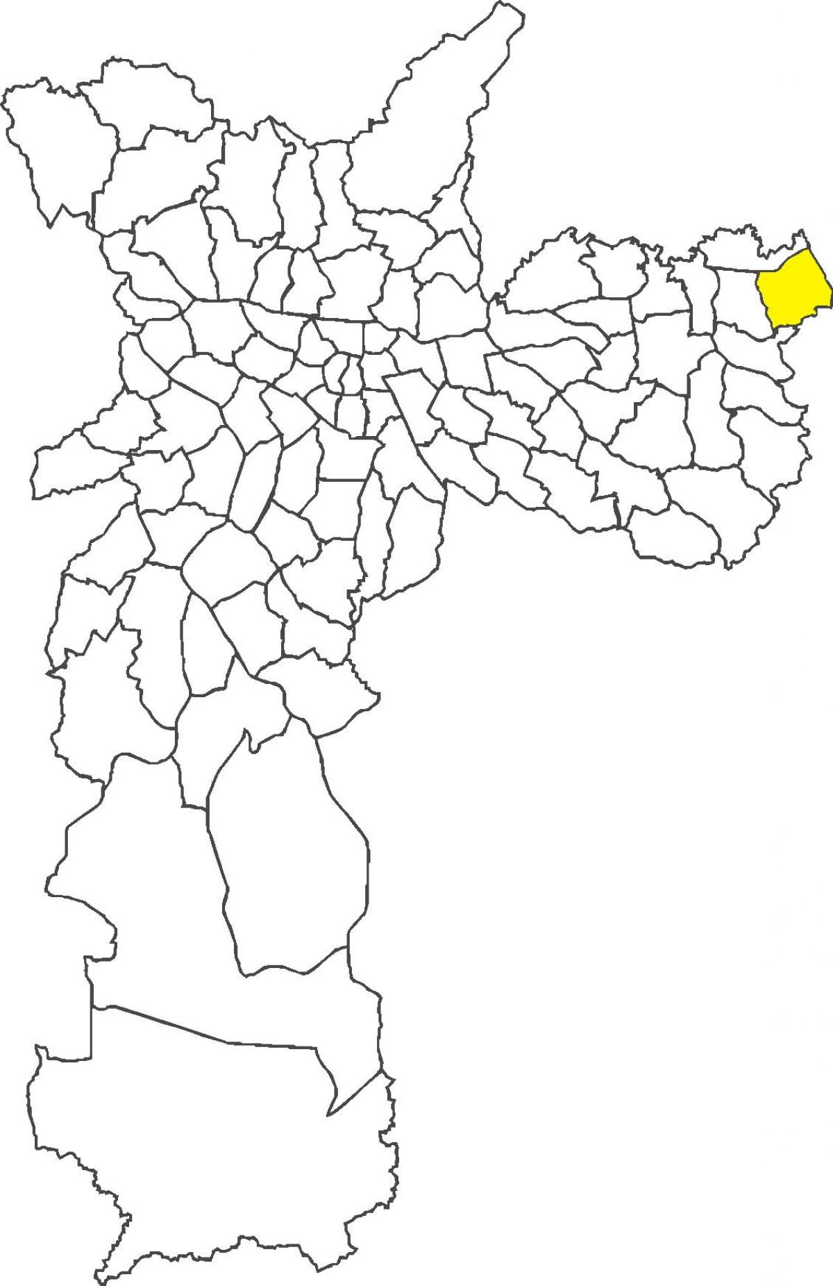 Map of Itaim Paulista district