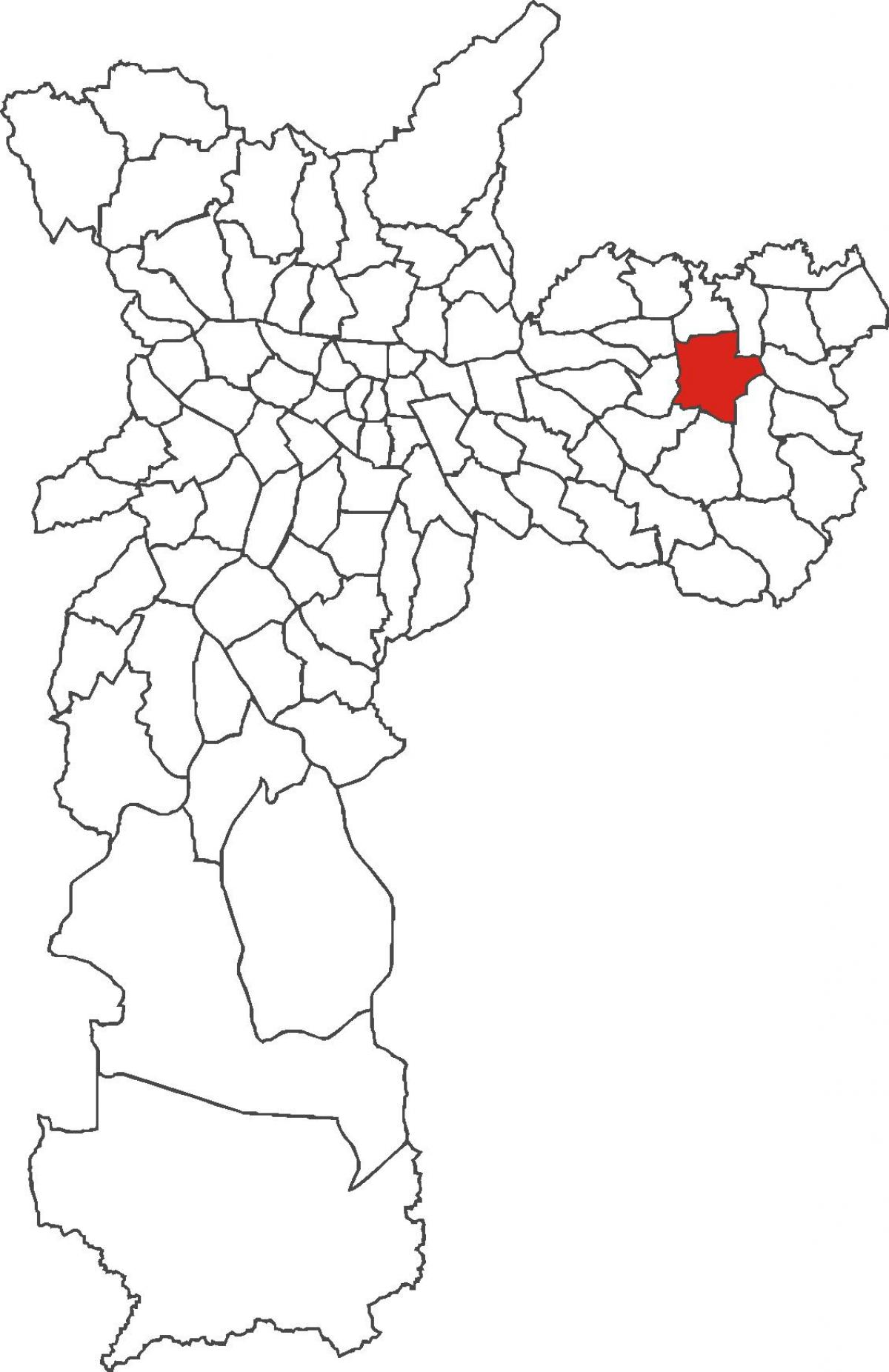 Map of Itaquera district