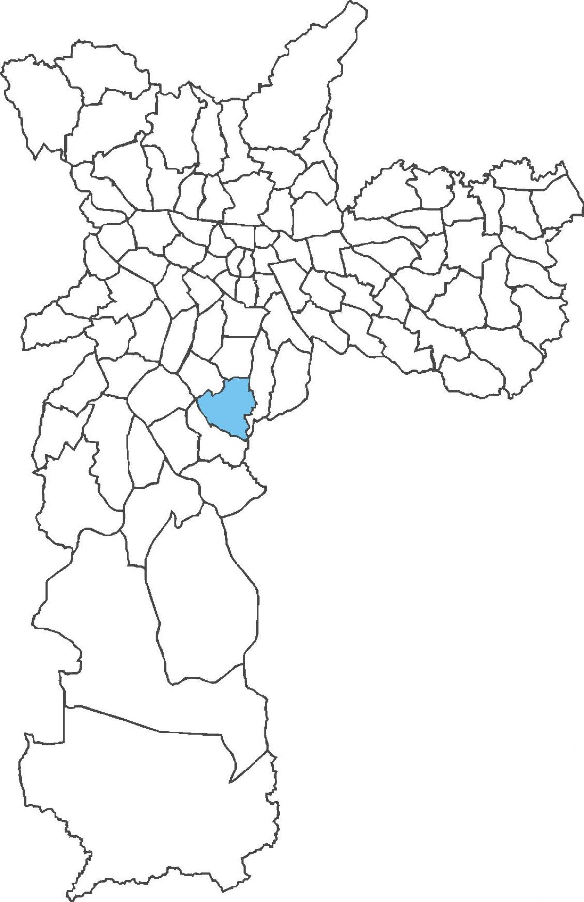 Map of Jabaquara district