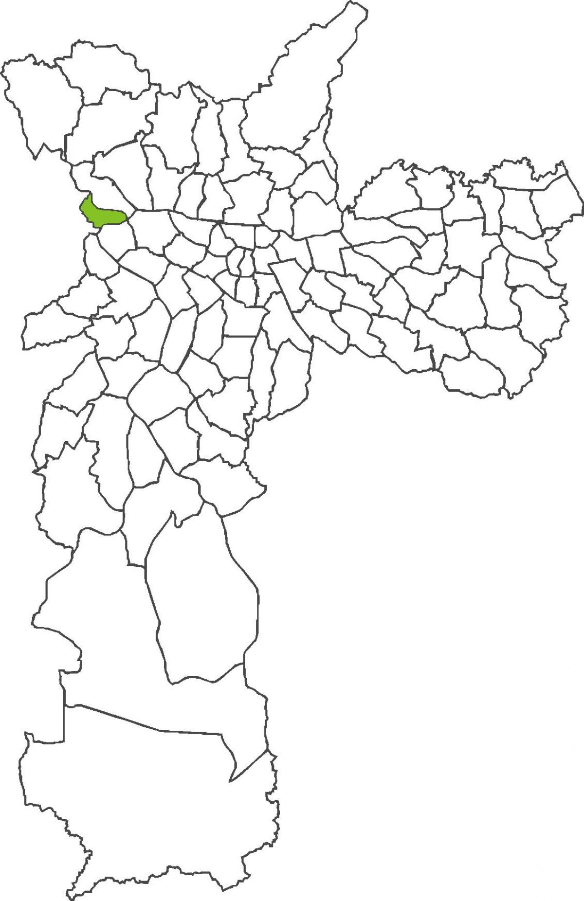 Map of Jaguara district