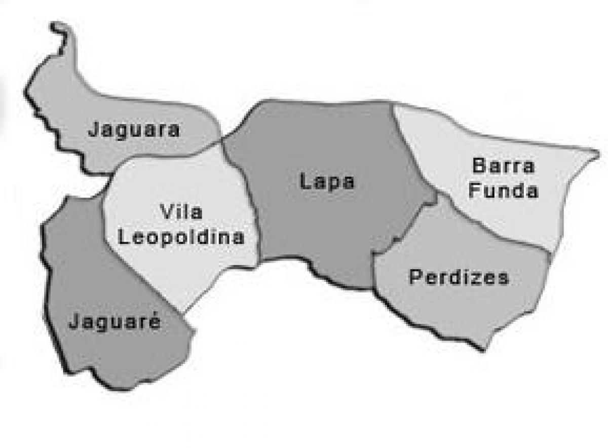 Map of Lapa sub-prefecture