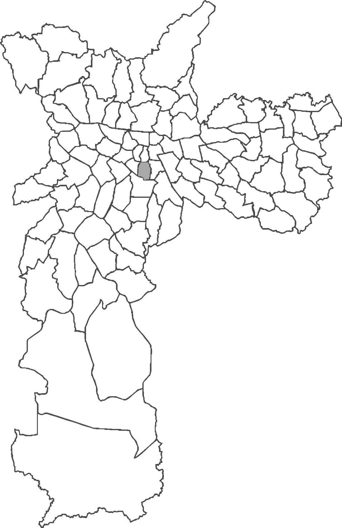 Map of Liberdade district