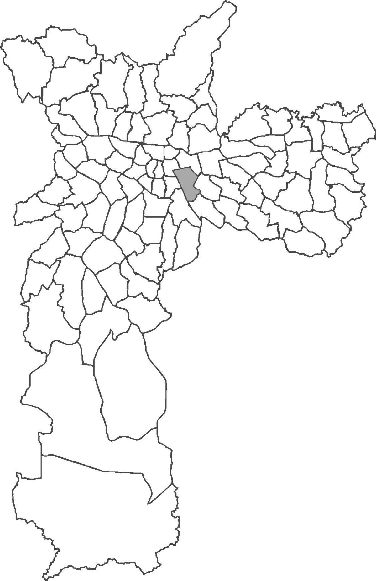 Map of Mooca district