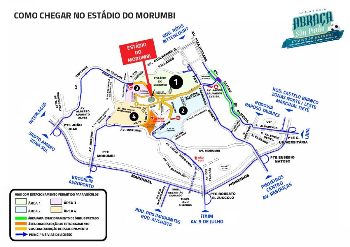 Map of Morumbi stadium