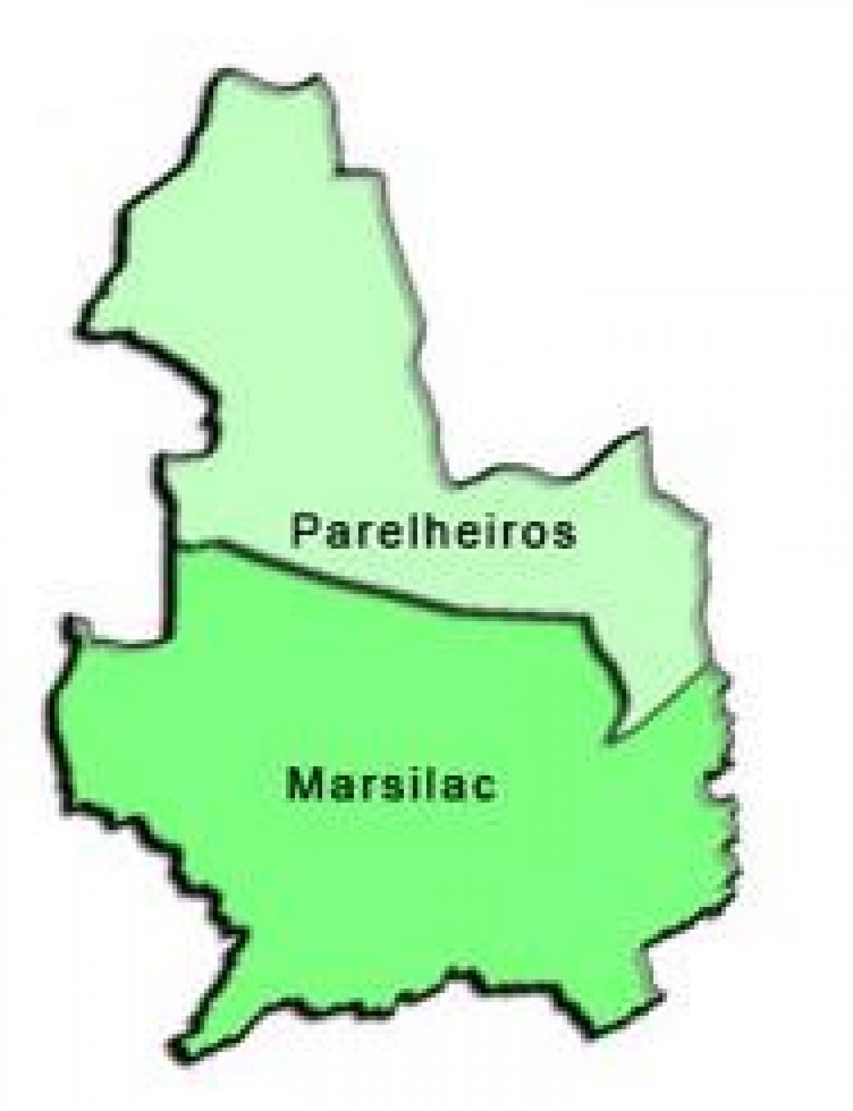 Map of Parelheiros sub-prefecture