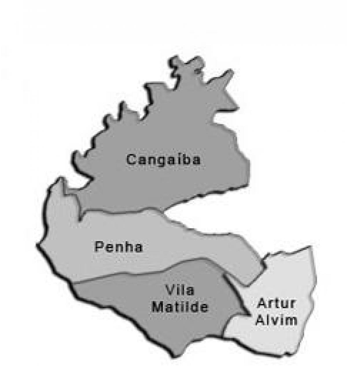Map of Penha sub-prefecture