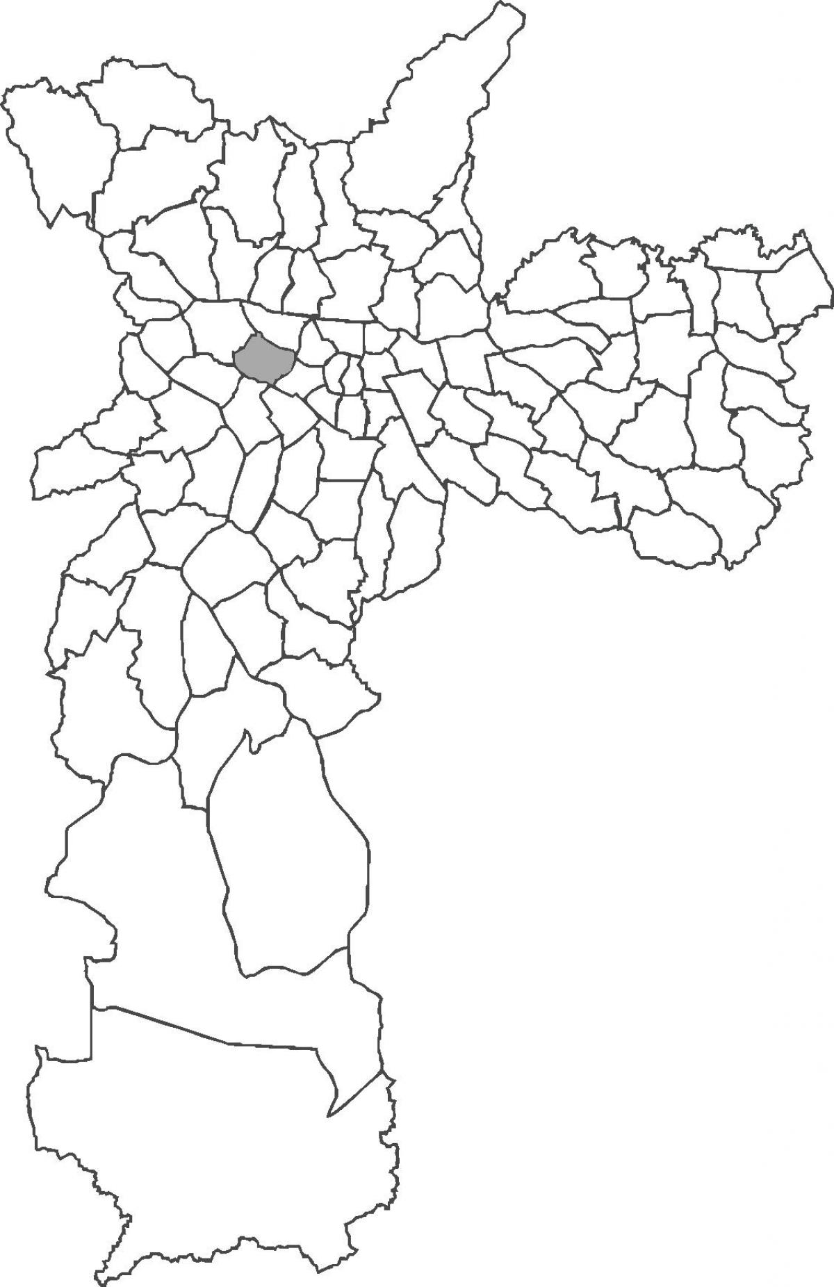 Map of Perdizes district
