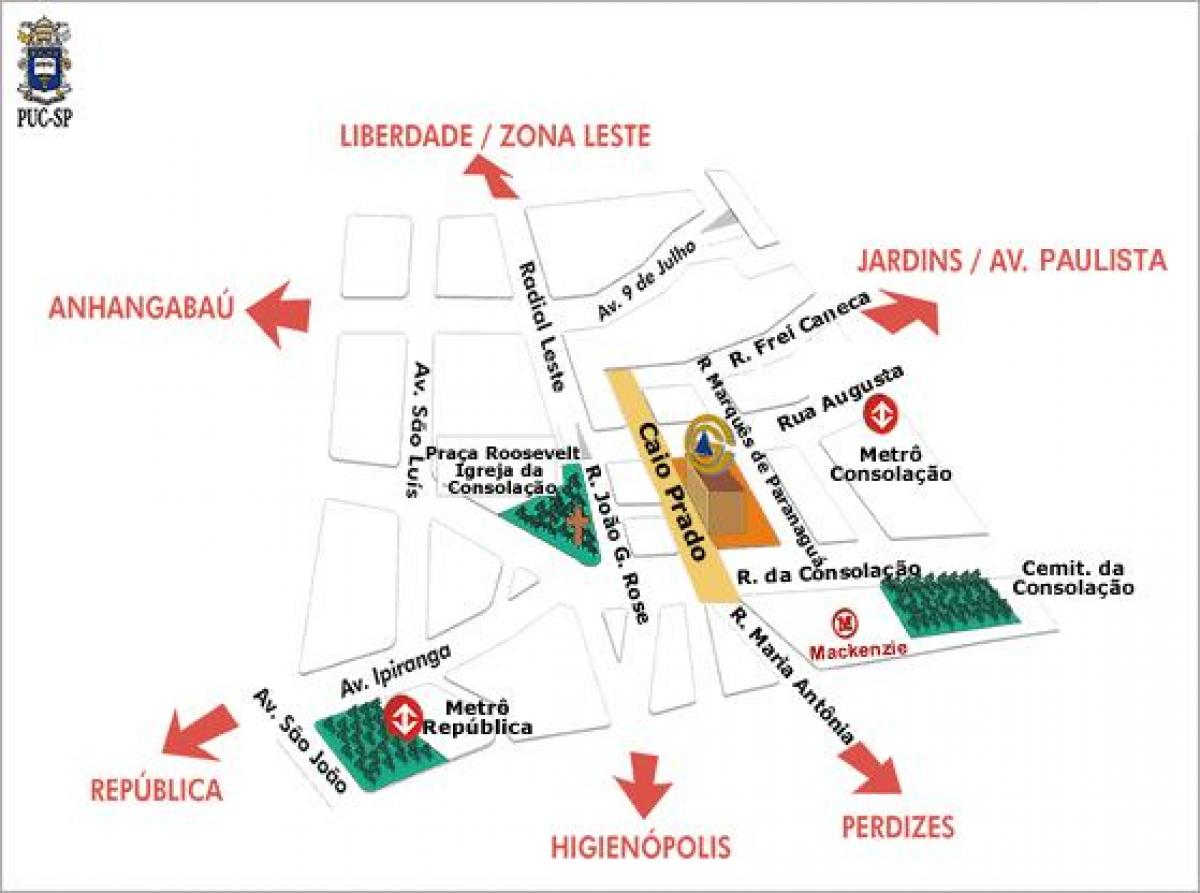 Map of Pontifical Catholic University of São Paulo