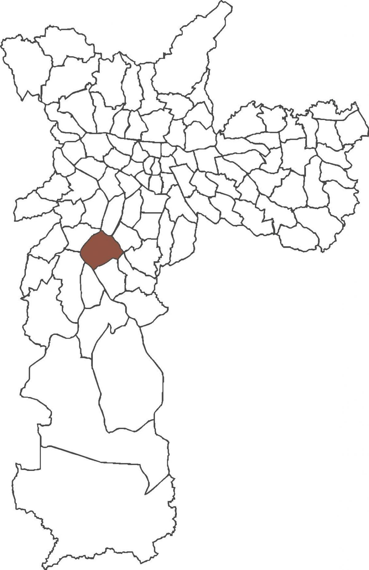 Map of Santo Amaro district