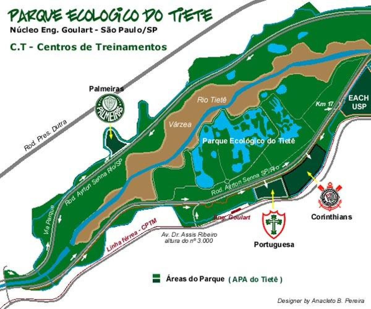 Map of Tiete Ecological Park