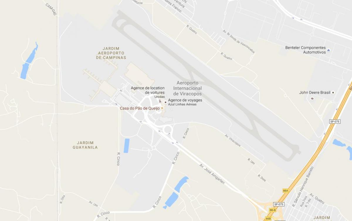 VCP Campinas Airport Map Map Of VCP Campinas Airport Brazil - Campinas map
