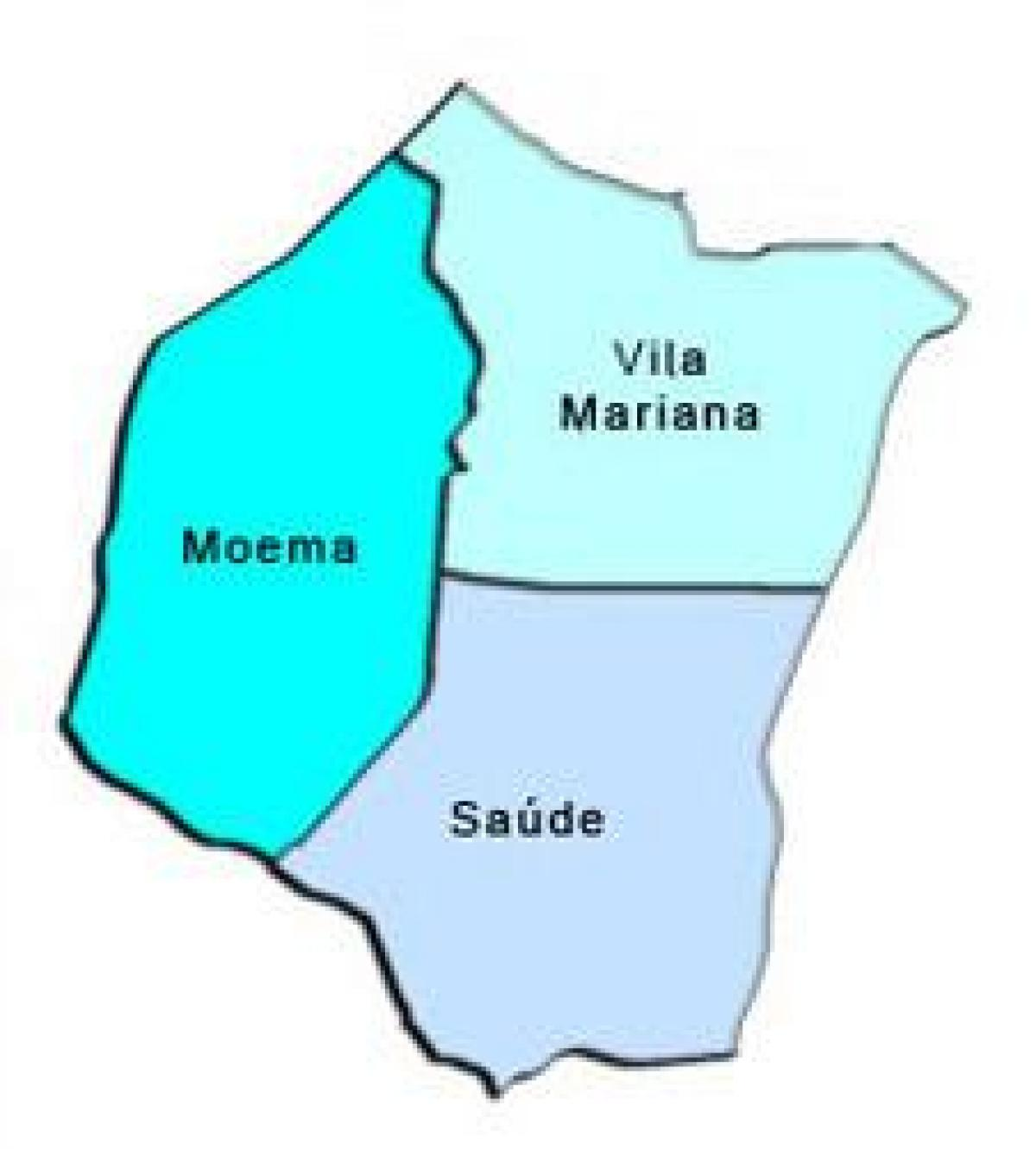 Map of Vila Mariana sub-prefecture