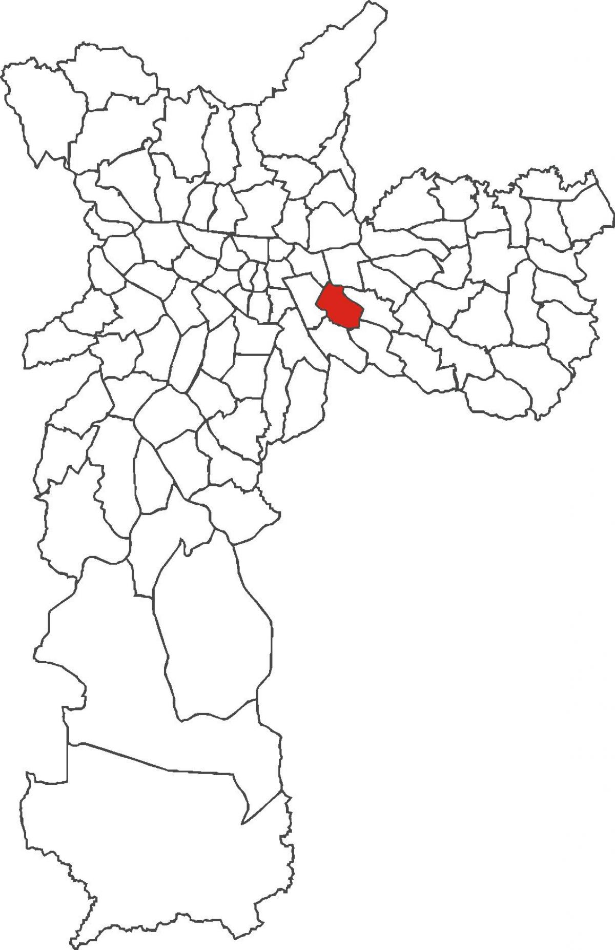 Map of Água Rasa district