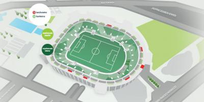 Map of Allianz Parque - Upper bleachers