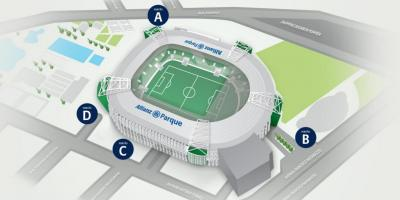 Map of Allianz Parque