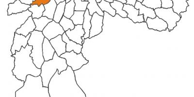 Map of Butantã district