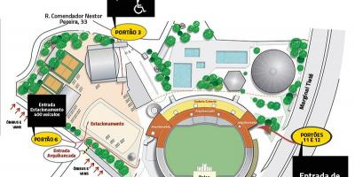 Map of Canindé stadium