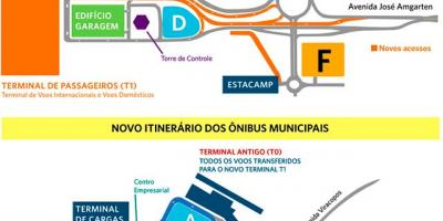 Map of international airport Viracopos